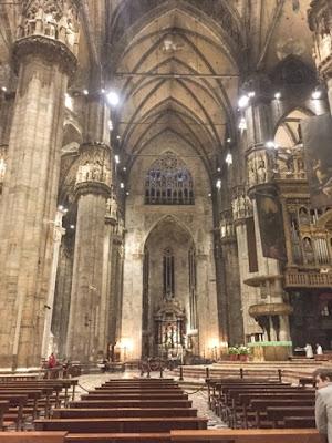 Duomo cathedral milan interior
