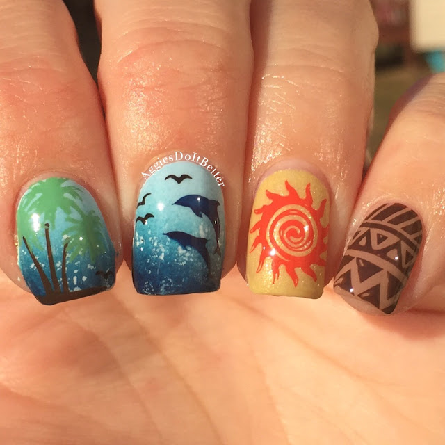 Moana Disney Nails Designs