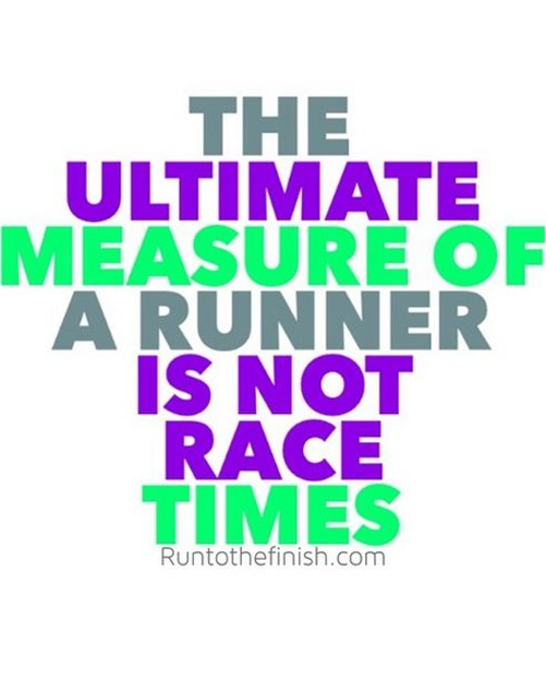 The ultimate measure of a runner is not race times - find other great runnig lessons on RTTF