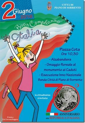 Manifesto Festa della Repubblica italiana - Piano di Sorrento