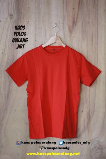kaos polos cowok merah cabe malang