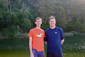 Devin and I at Lake Wabby