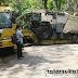 Mobil Plat Merah Pembawa Alat Berat Melintang Tutup Jalan Sagaranten - Cidolog