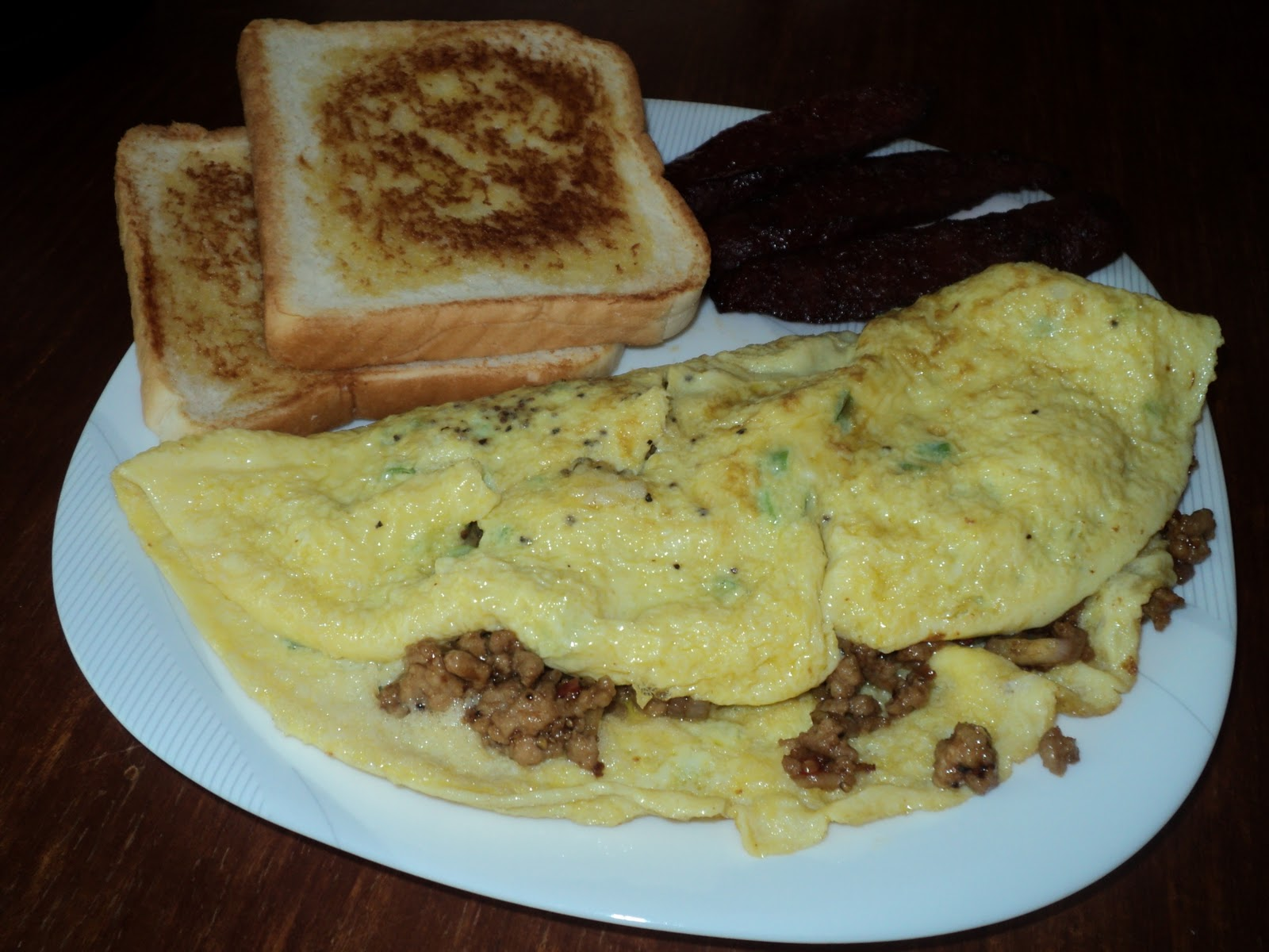ground pork omelette