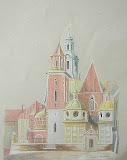 katedra na Wawelu, kredka/karton