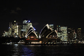 Sydney Opera House from the river