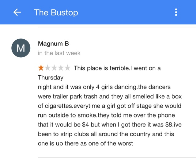 Bus stop strip club boulder