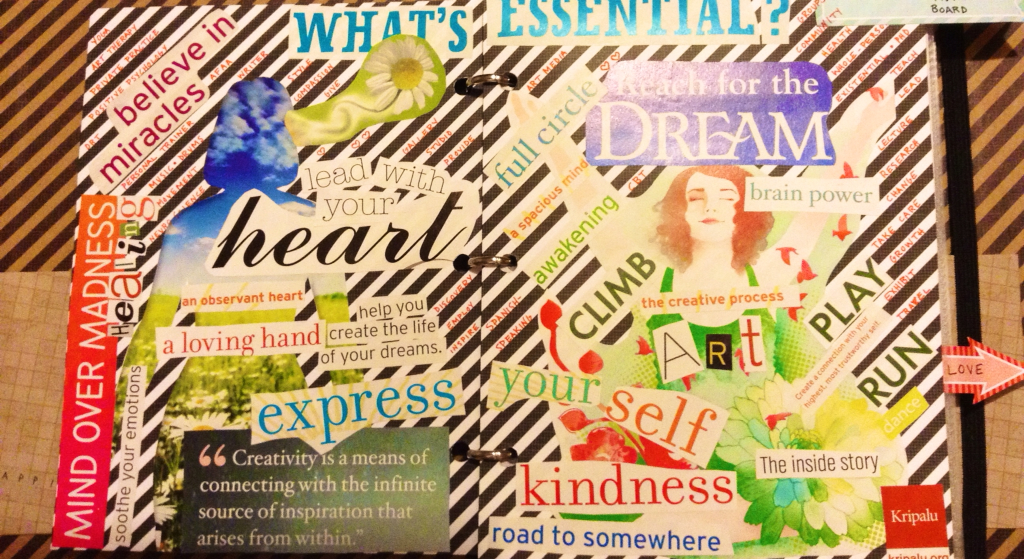 The Art Therapy Rookie Career Vision Board - vision for career