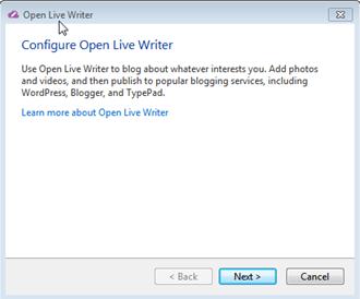 Open Live Writer установка