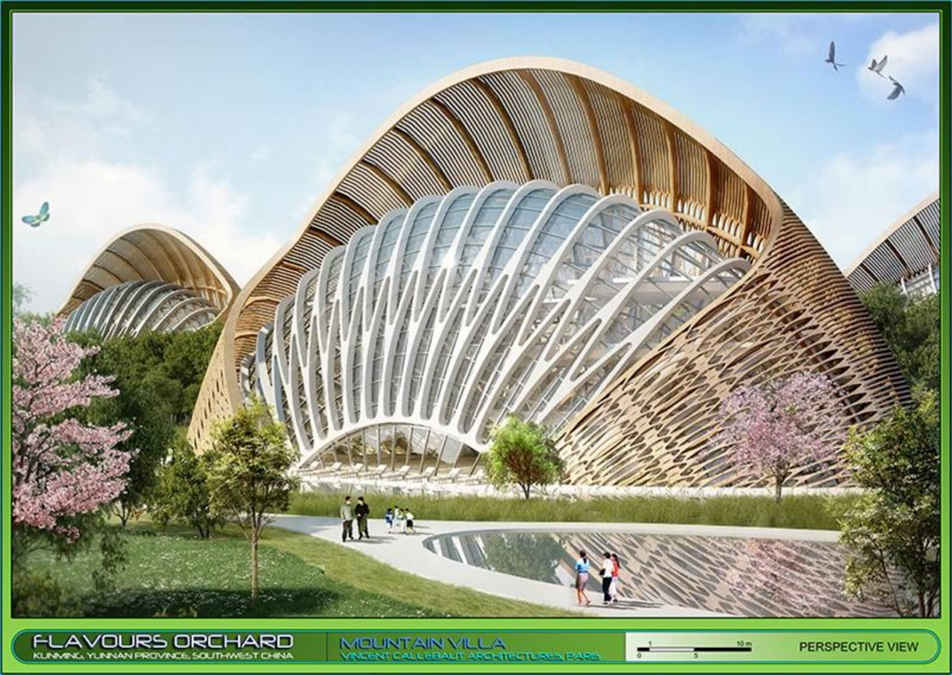 Dianchi Pool, Kunming, Cina: Flavours Orchard by Vincent Callebaut Architecture