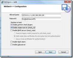 NSClient++ Setup - Configuration 2