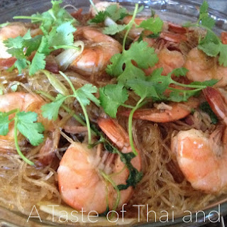 Thai Baked Shrimp with Glass Noodles – Goong Ob Woon Sen