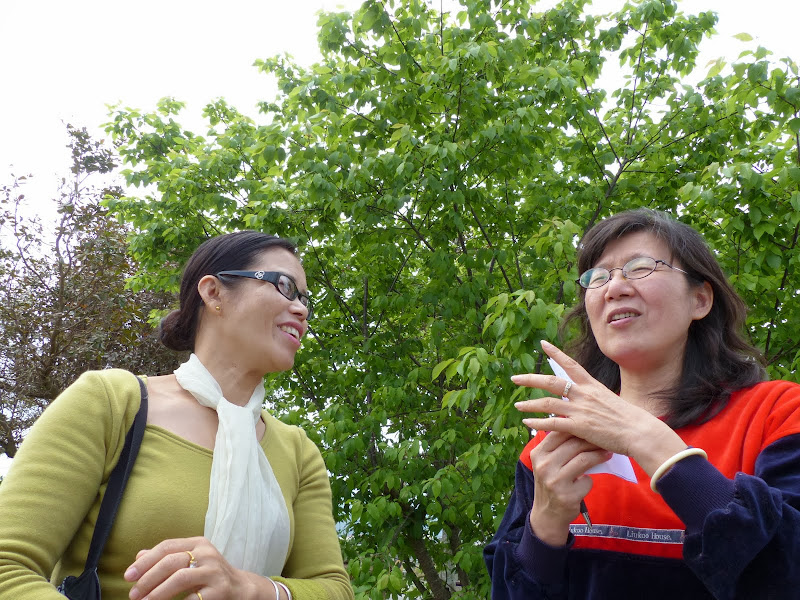 Left , a Fujian lady talking in taiwan language, tai u, with the house s owner