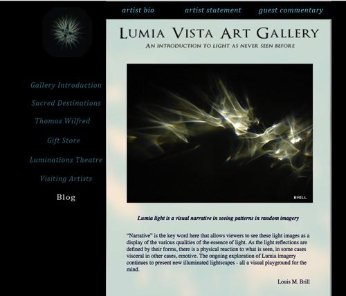 "Blog ""Sacred Lumia"" by Louis M.Brill"