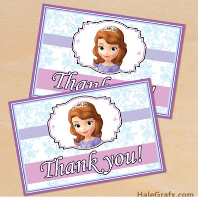 Sophia thank you cards