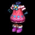 ピンクのデイジーの服A