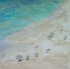 189 - Sandy Island - 2007  80 x 80 - Aquarelle sur sable sur toile