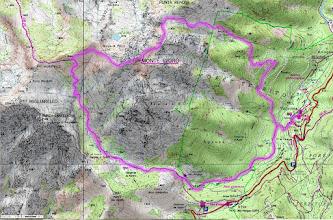 Photo: okružná túra na Monte d´Oro (2 389 m) s návratom cez Anglické kaskády, štart aj cieľ dedinka Vizzavona