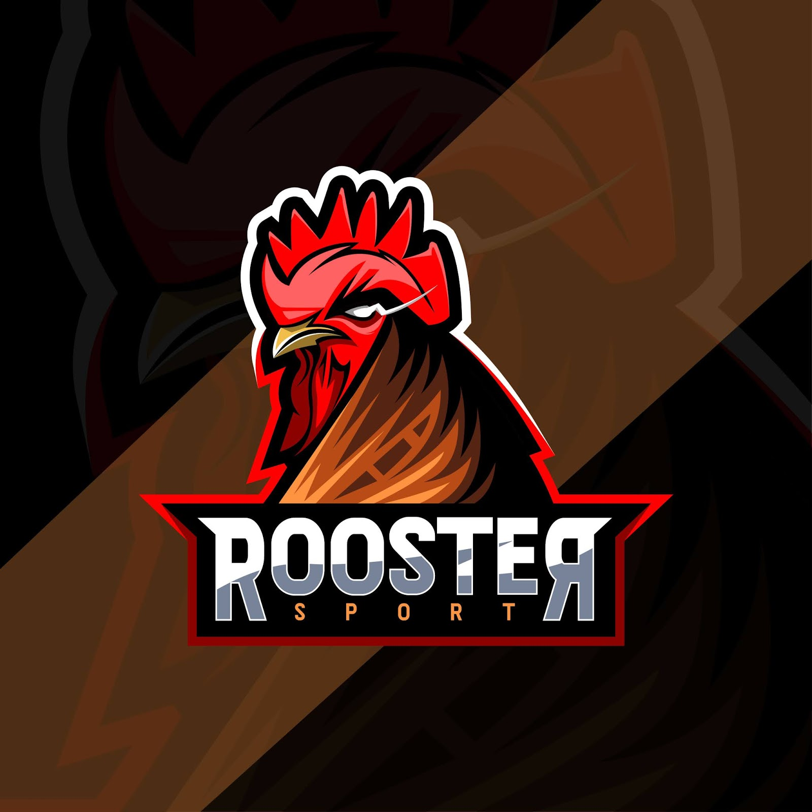 Rooster Mascot Logo Esport Templates Free Download Vector CDR, AI, EPS and PNG Formats