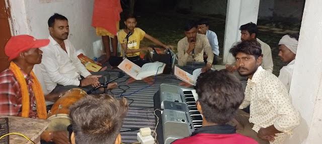 सुंदरकांड व हनुमान चालीसा का संगीतमय पाठ का हुआ आयोजन