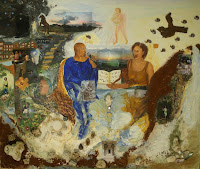 'Kauai- Gemälde', 130x110, Acryl auf Leinwand, Korallen, Sand, Muscheln und Photos, April 2011
