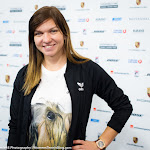STUTTGART, GERMANY - APRIL 18 : Simona Halep at the 2016 Porsche Tennis Grand Prix players party