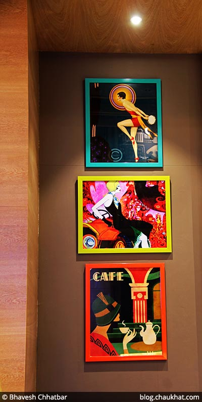 Paintings at 212 All Day Cafe & Bar at Phoenix Marketcity in Pune