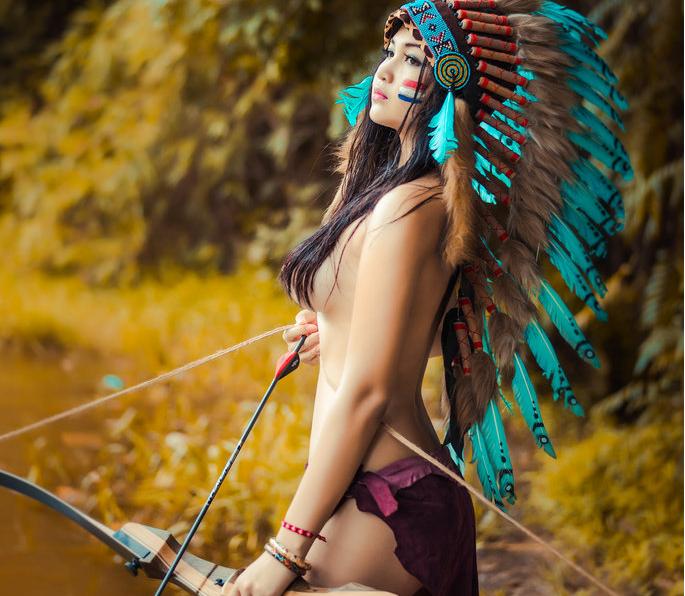 Ảnh cô gái thổ dân xinh đẹp