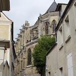 Rue Péteau de Maulette : chevet de l'église Saint-Pierre de Montfort-l'Amaury
