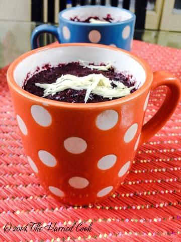 Red Velvet Mug Cake With Cake Mix