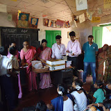 School Kit distribution at Government  High School - Karala Katte - 27th June 2015