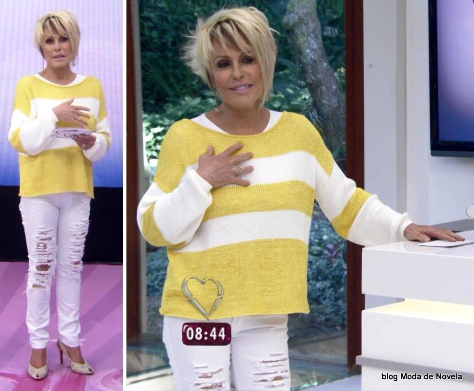 moda do programa Mais Você - look da Ana Maria Braga dia 6 de agosto