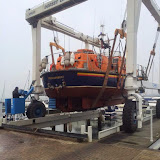 The ALB is lifted out the water for its annual bottom scrub - 16 March 2015