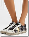 Golden Goose Tartan Suede and Leather Sneakers