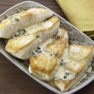 Pan-Roasted Halibut with Caper Vinaigrette
