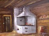 w starej kuchni, olej, płótno, 40x50cm