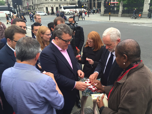 MPs light Candles for Jo Cox