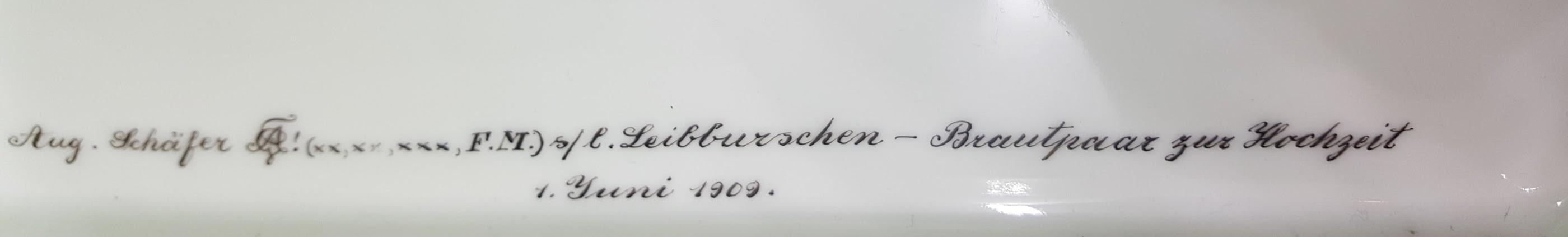 Studentika Tablett 1909