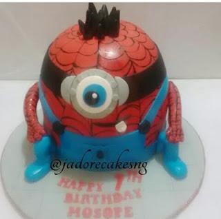 Spider minion cake