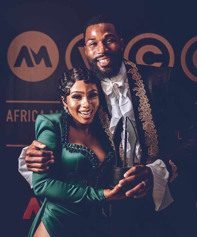 Ex-BBNaija Stars Mike And Mercy Won Best Dressed AMVCA 2020.