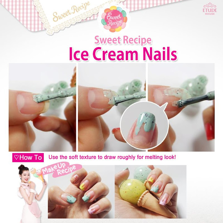 Etude House Ice Cream Nails Ideas