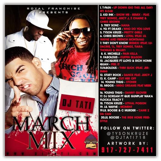 New T Pain Ft B O B Up Down Do This All Day: VA-March Mix (Playlist) (22-03-2014)