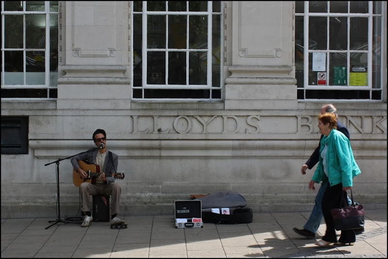 Busking in Norwich
