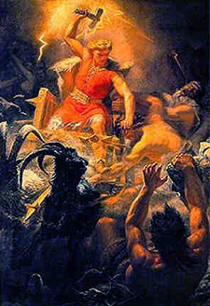 Thor And The Giants, Asatru Gods And Heroes