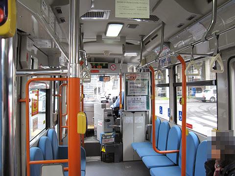 千歳市循環型コミュニティバス「ビーバス」 Bコース専用車両(千歳相互バス) 車内