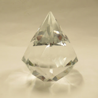 Tiffany & Co. Diamond-Cut Crystal Paperweight