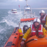 9 January 2012: Poole ILB's first shout of 2012, towing a vessel in that had broken down in Poole Bay. Photo: Poole/RNLI