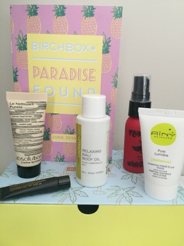 Birchbox UK June 2016 Paradise Found