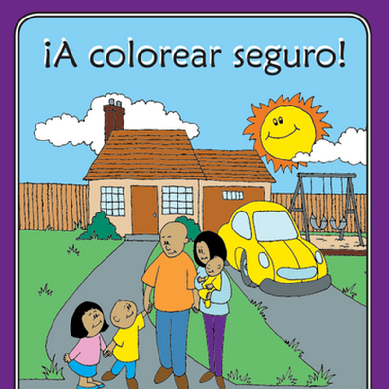 Colorear prevención de accidente, descarga gratis
