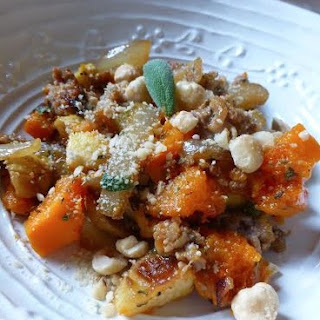 Apple, Sweet Potato, And Sausage Stuffing